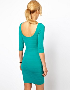Image 2 ofMango Bodycon Scoop Back Dress