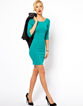 Image 4 ofMango Bodycon Scoop Back Dress