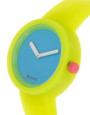 Image 3 ofO&#39;Clock Silicone Yellow Watch