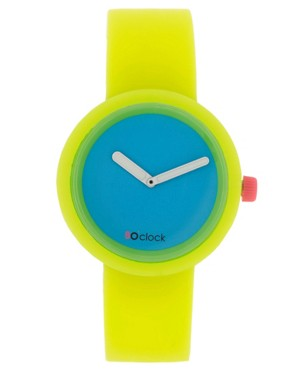Image 1 ofO&#39;Clock Silicone Yellow Watch