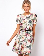 Oasis Photographic Floral Print Dress
