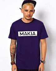 Makia T-Shirt Box Logo Print