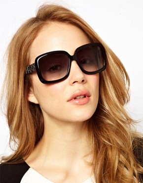 Image 3 ofMarc By Marc Jacobs Black Square Frame Sunglasses