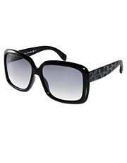 Marc By Marc Jacobs Black Square Frame Sunglasses