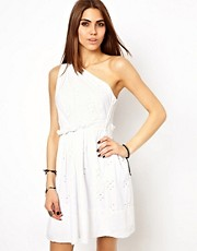 Religion Cotton One Shoulder Dress