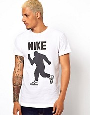 Nike T-Shirt with Peace Out Yeti Graphic