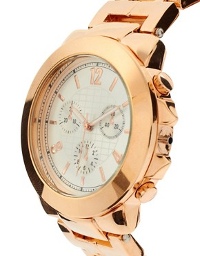 Image 4 ofRiver Island Rose Gold Chronograph Watch