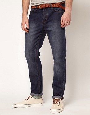 Image 1 ofASOS Slim Jeans In Dark Wash