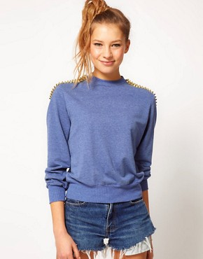 Image 1 ofHearts &amp; Bows Studded Sweatshirt