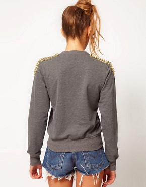 Image 2 ofHearts &amp; Bows Studded Sweatshirt