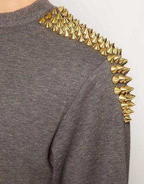 Image 3 ofHearts &amp; Bows Studded Sweatshirt