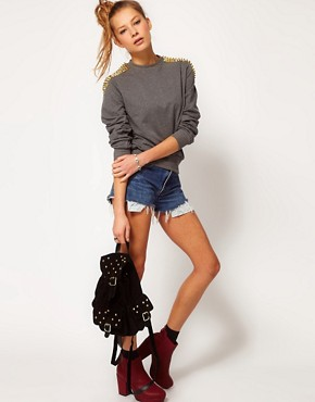 Image 4 ofHearts &amp; Bows Studded Sweatshirt