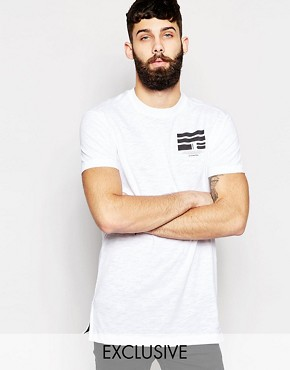 Exclusive to ASOS G-Star BeRAW T-Shirt Tore Longline Raw Back Print