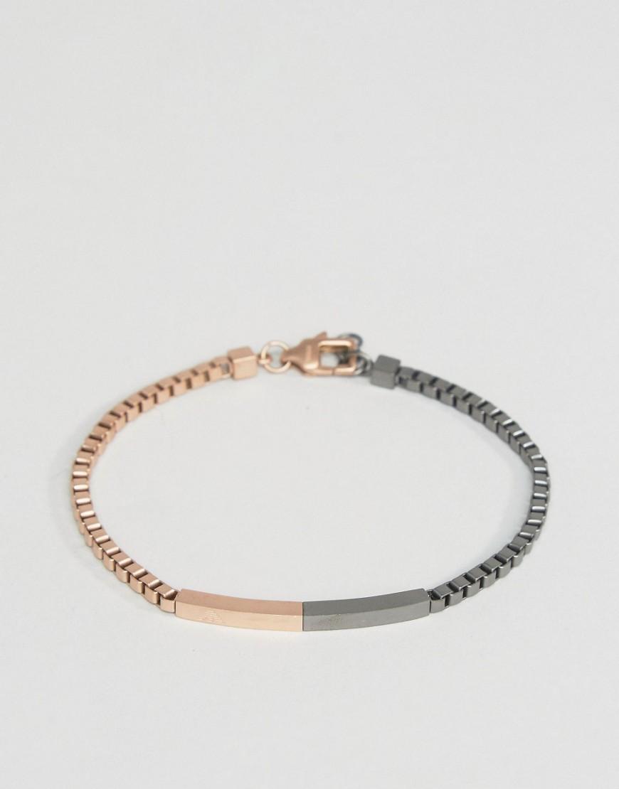 Двухцветный браслет-цепочка Emporio Armani - Золотой