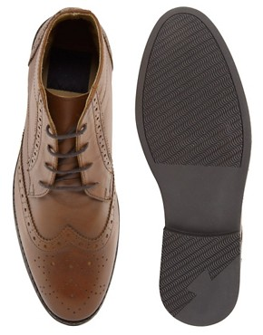 Image 3 ofASOS Brogue Chukka Boots in Leather