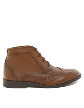 Image 4 ofASOS Brogue Chukka Boots in Leather