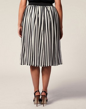 Image 2 of ASOS CURVE Printed Midi Skirt