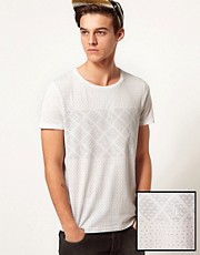 ASOS T-Shirt With Reverse Spot Print