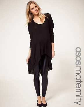 Image 1 ofASOS Maternity Wet Look Legging
