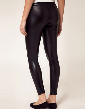 Image 2 ofASOS Maternity Wet Look Legging