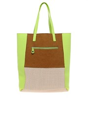 Pieces Millie Colourblock Shopper