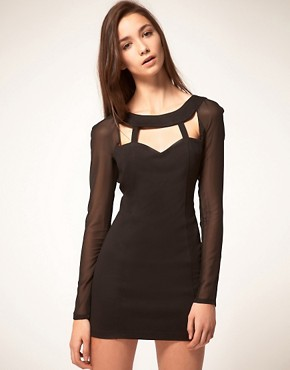 Image 1 ofFinders Keepers Dress With Cut Out Bodice