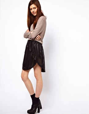Image 1 ofASOS Skirt with High Low Hem