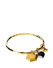Brazalete con charm con la palabra Love y candado de Sam Ubhi