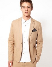 ASOS - Giacca da abito slim fit in cotone