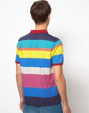 Image 2 ofASOS Polo With All Over Printed Stripe