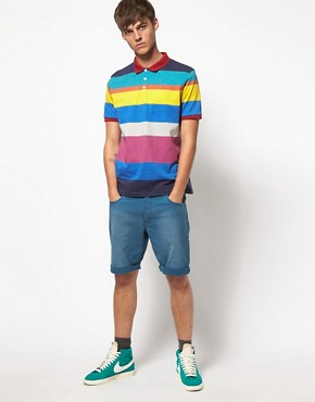 Image 4 ofASOS Polo With All Over Printed Stripe