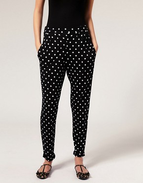Image 4 - ASOS PETITE - Pantalon carotte en jersey  pois
