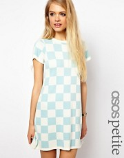 ASOS PETITE Exclusive Mini Dress in Checkerboard