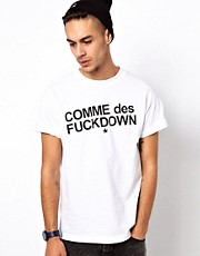 Comme Des F Down T-Shirt