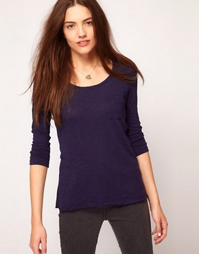 Image 1 ofVero Moda Dip Back 3/4 Top