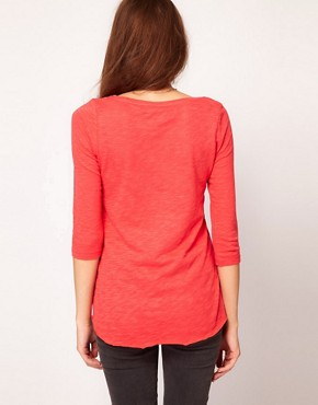 Image 2 ofVero Moda Dip Back 3/4 Top