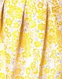Image 3 ofASOS Premium Bell Skirt in Yellow Floral