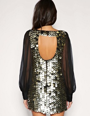 Image 2 ofASOS Chiffon Sleeve Embellished Tunic