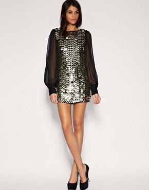 Image 4 ofASOS Chiffon Sleeve Embellished Tunic