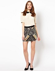 A Wear Sequin Mini Skirt