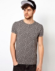 ASOS T-Shirt With All Over Animal Print And Pocket
