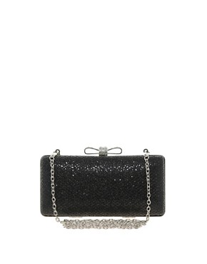 Image 1 ofWarehouse Sparkle Bow Clutch Bag