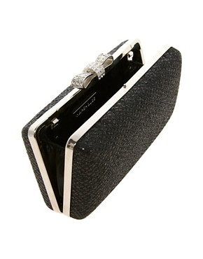 Image 2 ofWarehouse Sparkle Bow Clutch Bag