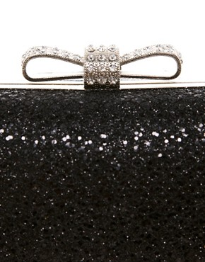 Image 4 ofWarehouse Sparkle Bow Clutch Bag