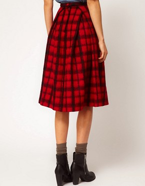 Image 2 ofASOS Check Midi Skirt
