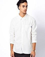 Undefeated Shirt Long Sleeve Slub Button Up