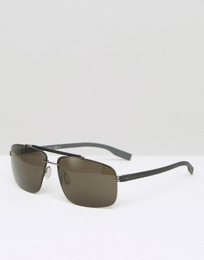 Hugo Boss Square Sunglasses In Black