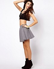 ASOS Skater Skirt in Texture