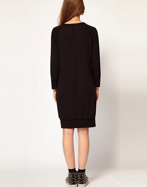 Image 2 ofJames Perse Raglan Sweatshirt Dress in Slub Terry Jersey