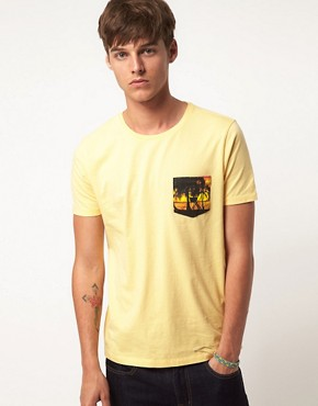 Image 1 ofASOS T-Shirt With Palm Print Pocket